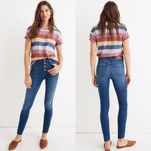 "Madewell 10"" High-Rise Skinny Jeans Hanna Wash 31"